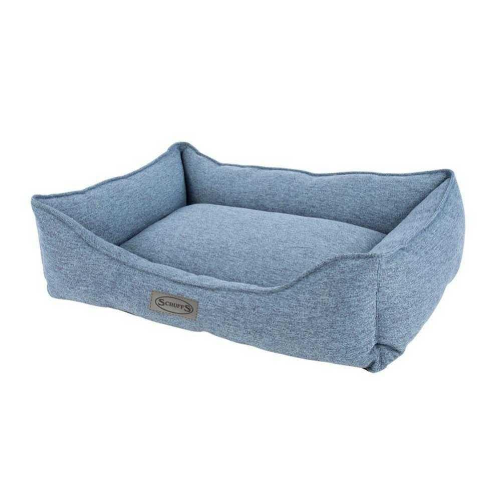 Hondenmand Manhattan Box Bed Denim Blue