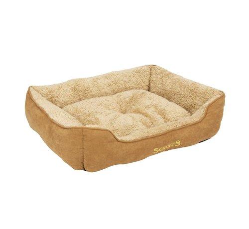 Scruffs Dog Bed Cozy Box Bed  Beige