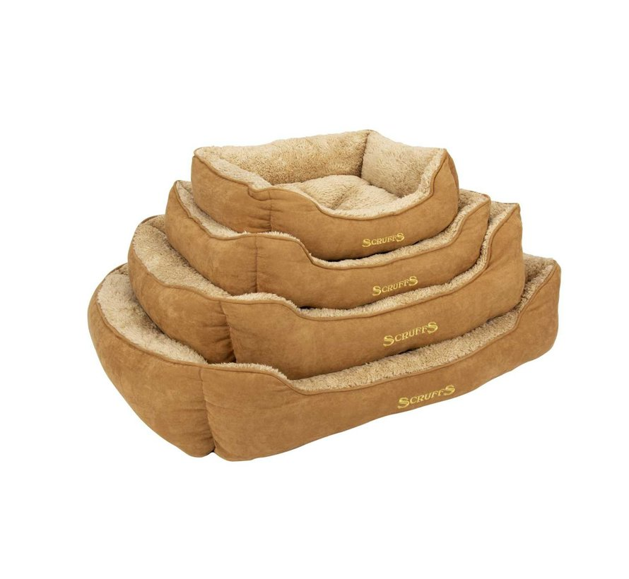 Dog Bed Cozy Box Bed  Beige