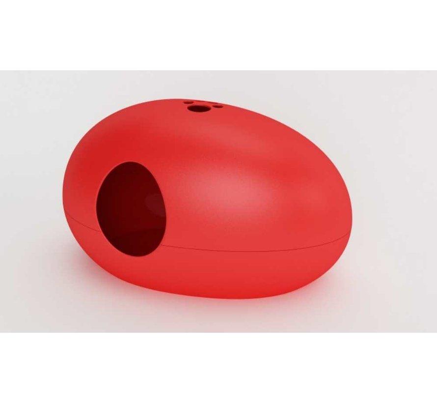 Design Kattenbak Poopoopedo Rood
