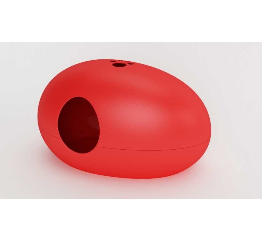Design Kattenbak Poopoopeedo Rood