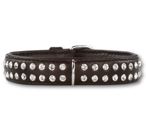 Doxtasy Dog Collar Swarovski Extreme Black 30 mm