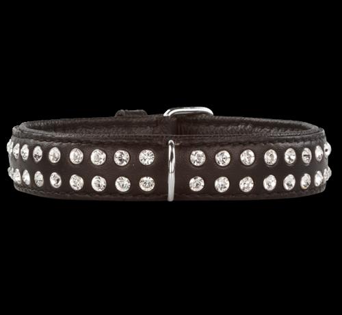 Doxtasy Hondenhalsband Swarovski Extreme Black 30 mm