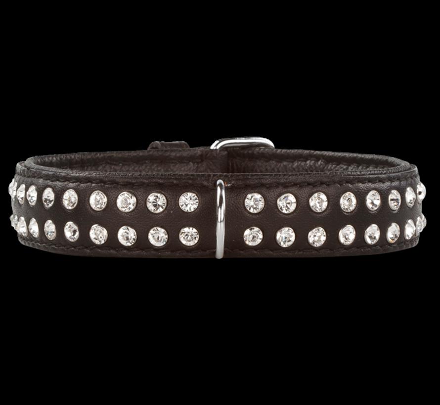 Hondenhalsband Swarovski Extreme Black 30 mm