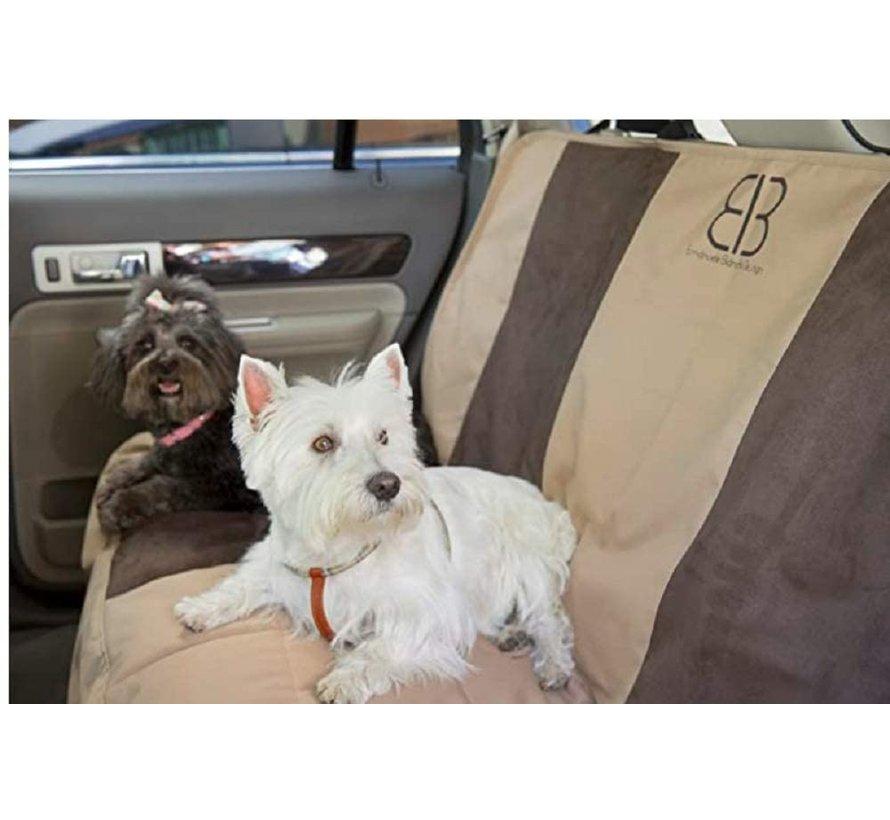 Dog Blanket For Rear Seat Multi Fabric Tan Espresso