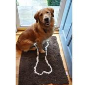 Soggy Doggy Droogloopmat Bruin met bot