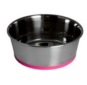 Rogz Bowl Stainless Steel Slurp Pink