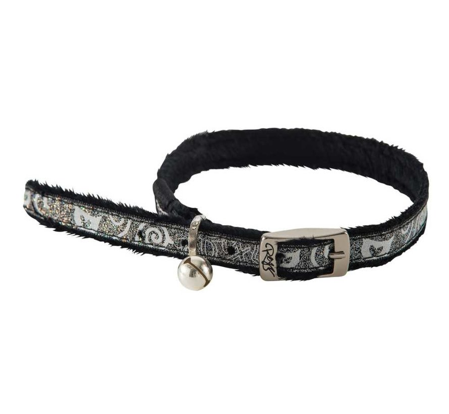 Kattenhalsband SparkleCat Zwart