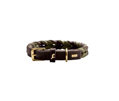 Hunter Dog Collar Solid Education Duo Brown