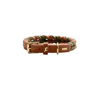 Hunter Dog Collar Solid Education Duo Cognac