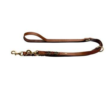 Hunter Adjustable Dog Leash Solid Education Duo Cognac