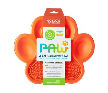 PDH Paw 2 in 1 Slow Feeder Orange