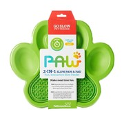 PDH Paw 2 in 1 Slow Feeder Green