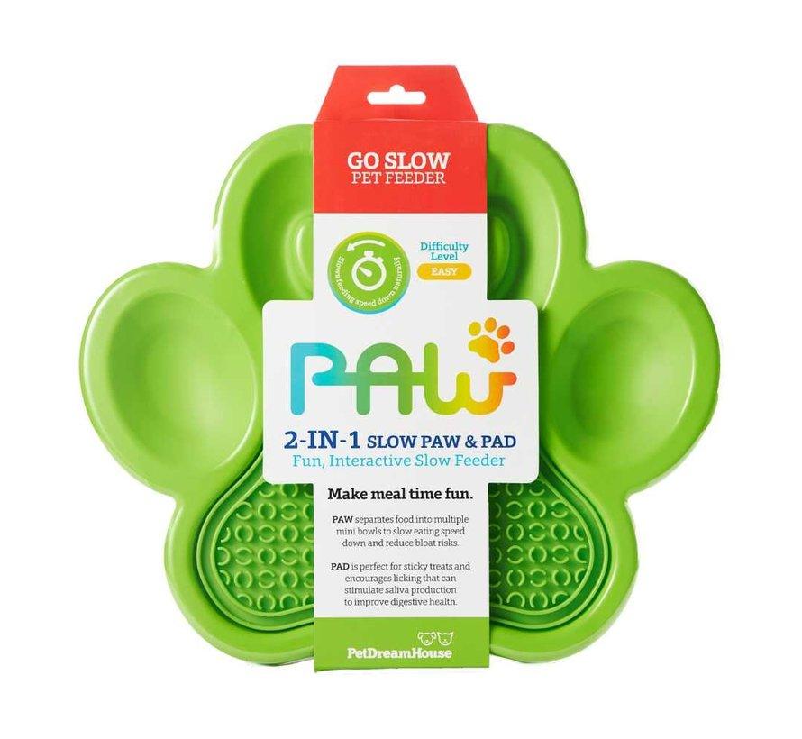 Paw 2 in 1 Slow Feeder Groen
