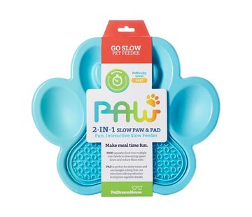 PDH Paw 2 in 1 Slow Feeder Blue