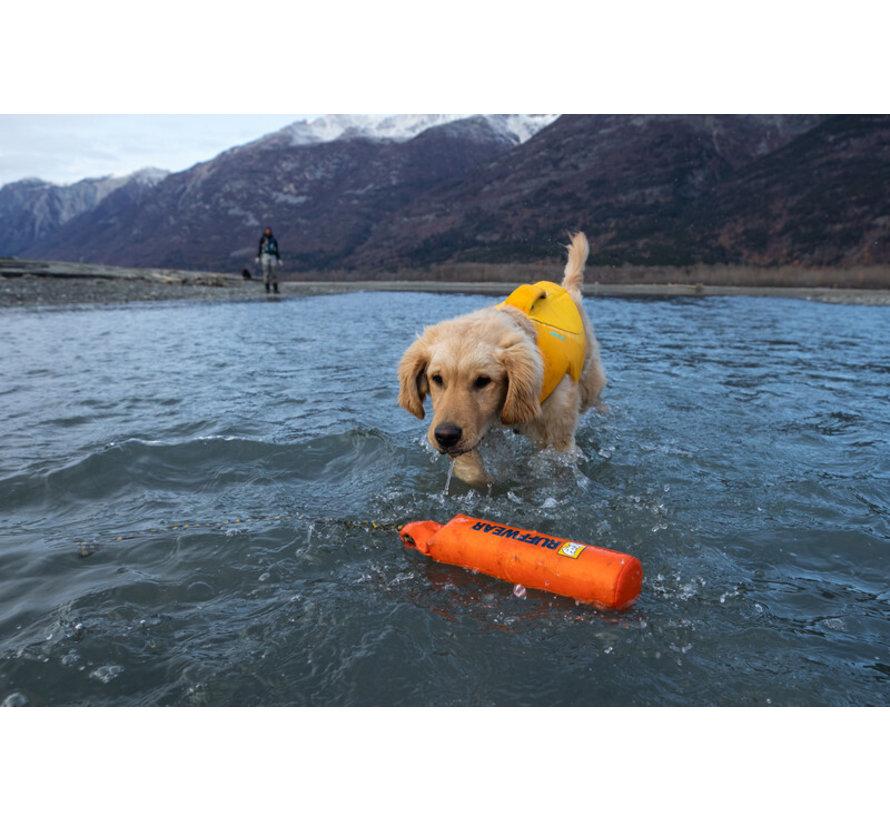 Dog Life Jacket Float Coat Wave Orange