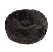 District70 Dog Bed Donut Fuzz Dark Grey
