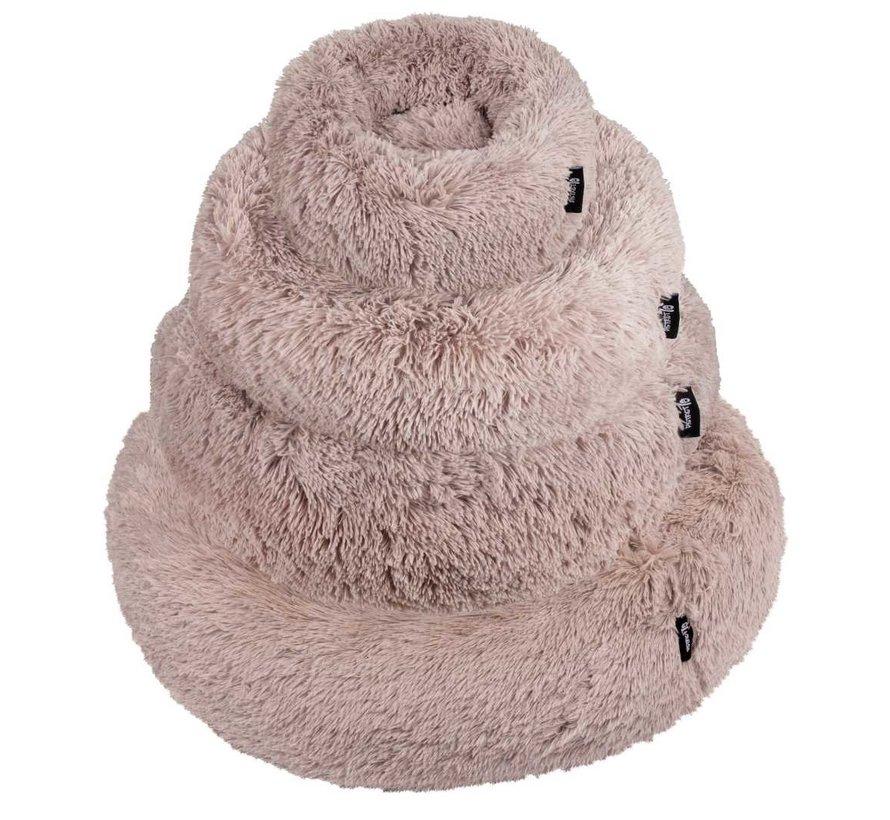 Dog Bed Donut Fuzz Sand