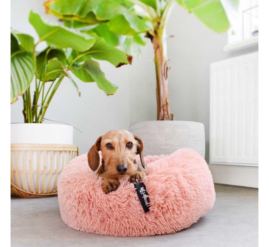 Hondenmand Donut Fuzz Oud Roze
