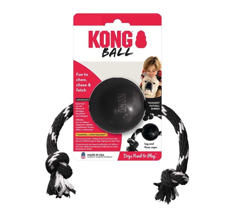 Hondenspeelgoed Extreme Ball met touw