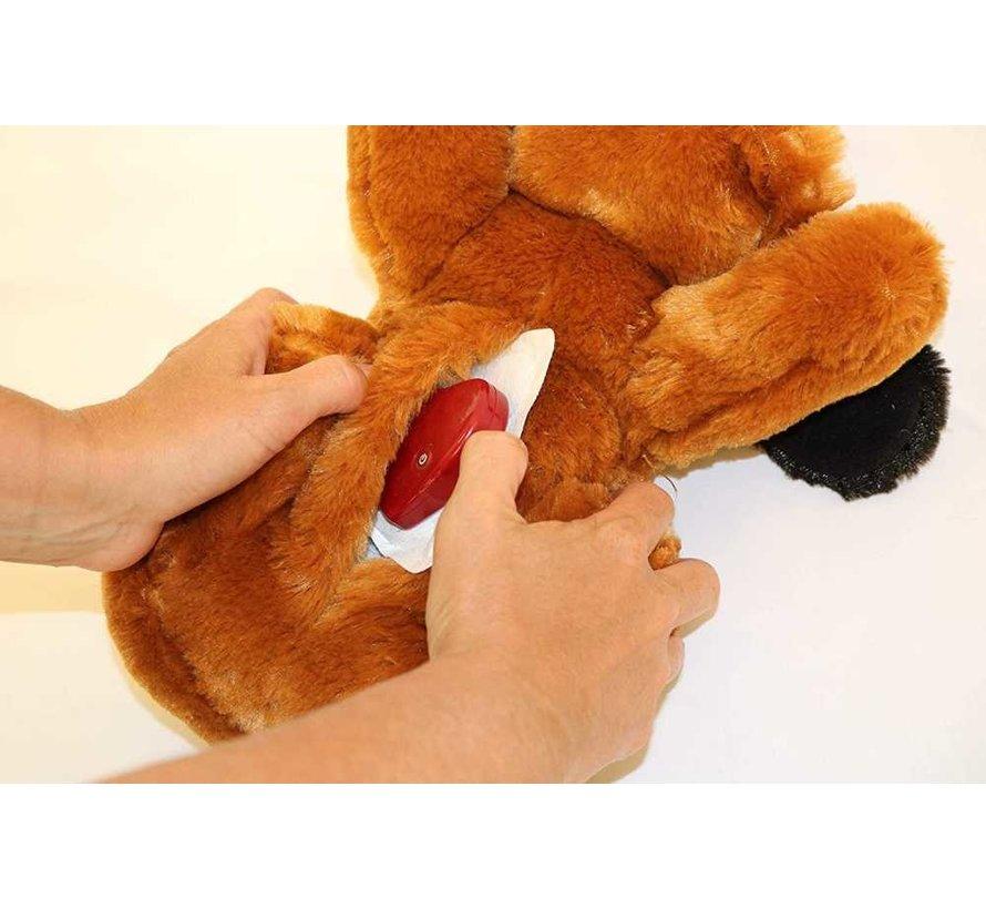 Snuggle Puppy Bruin / Wit