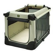 Maelson Foldable dog crate Soft Kennel Beige