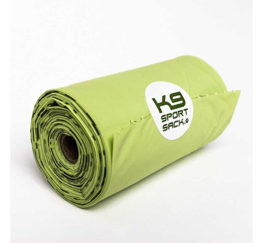 Poop bags with poop bag holder