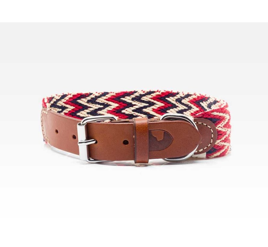 Dog Collar Peruvian Red