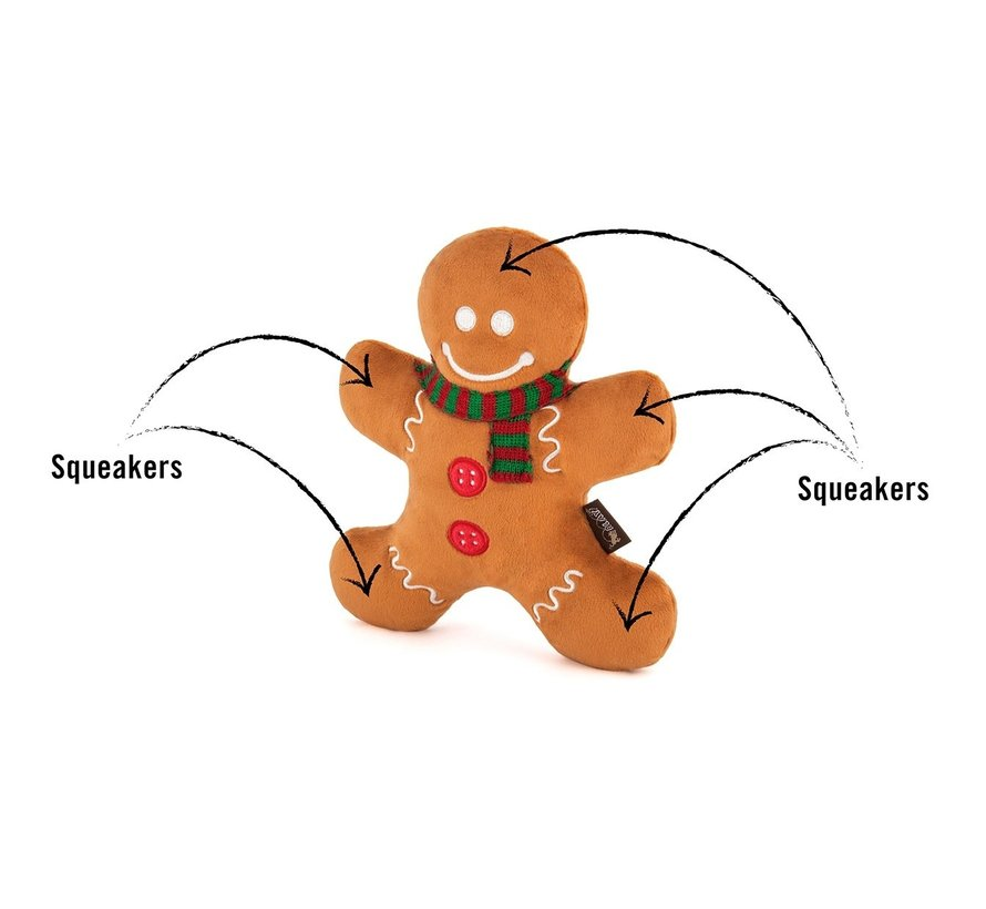 Dog Toy Christmas Gingerbread Man