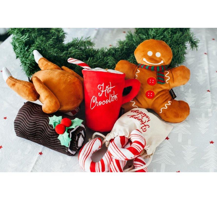 Dog Toy Christmas Yule Log
