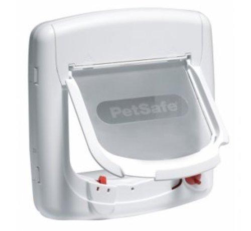 Petsafe Staywell Magnetisch De Luxe kattenluik wit