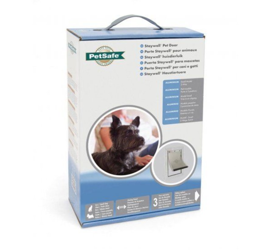 Staywell Dog Flap Aluminium