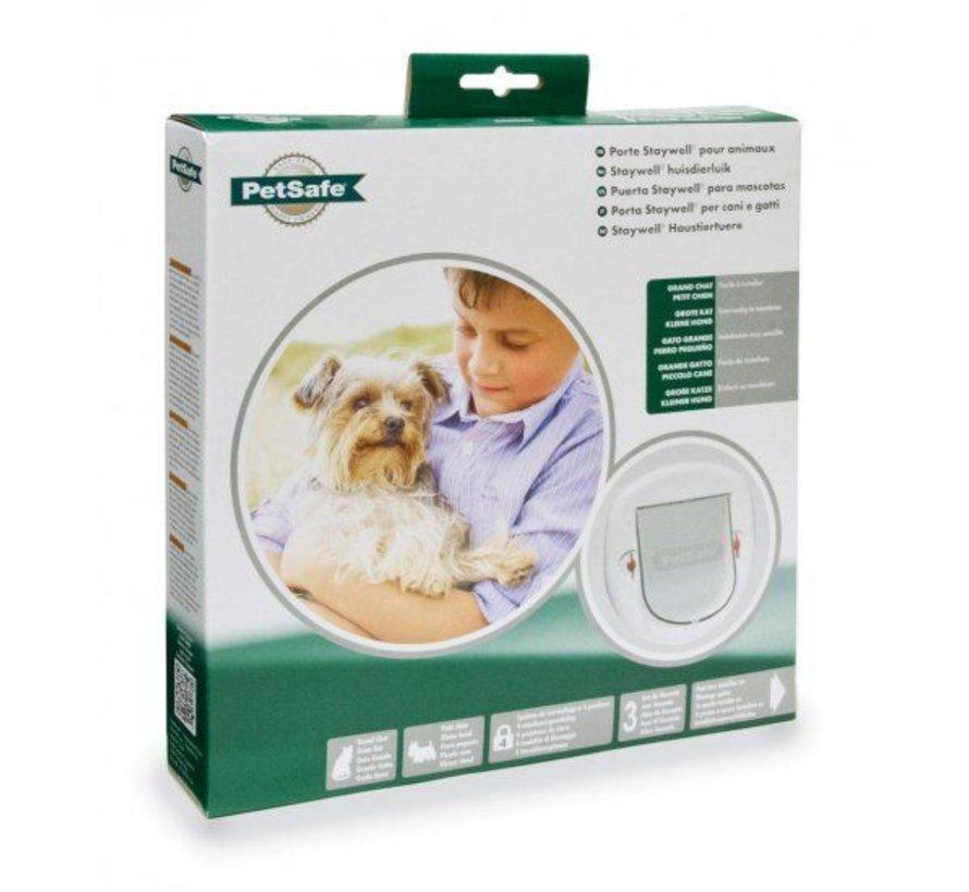 Staywell Wit Hondenluik voor kleine honden