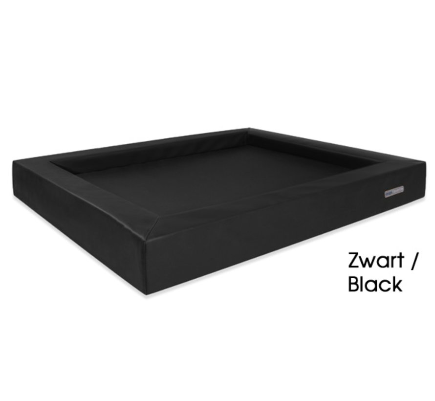 Dog Bed Relax Leatherette Black