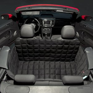 Doctor Bark Dog blanket for the back seat for two-door car Black