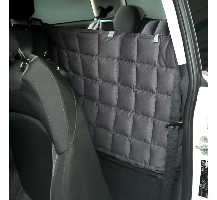 Dog blanket for the back seat for two-door car Grey