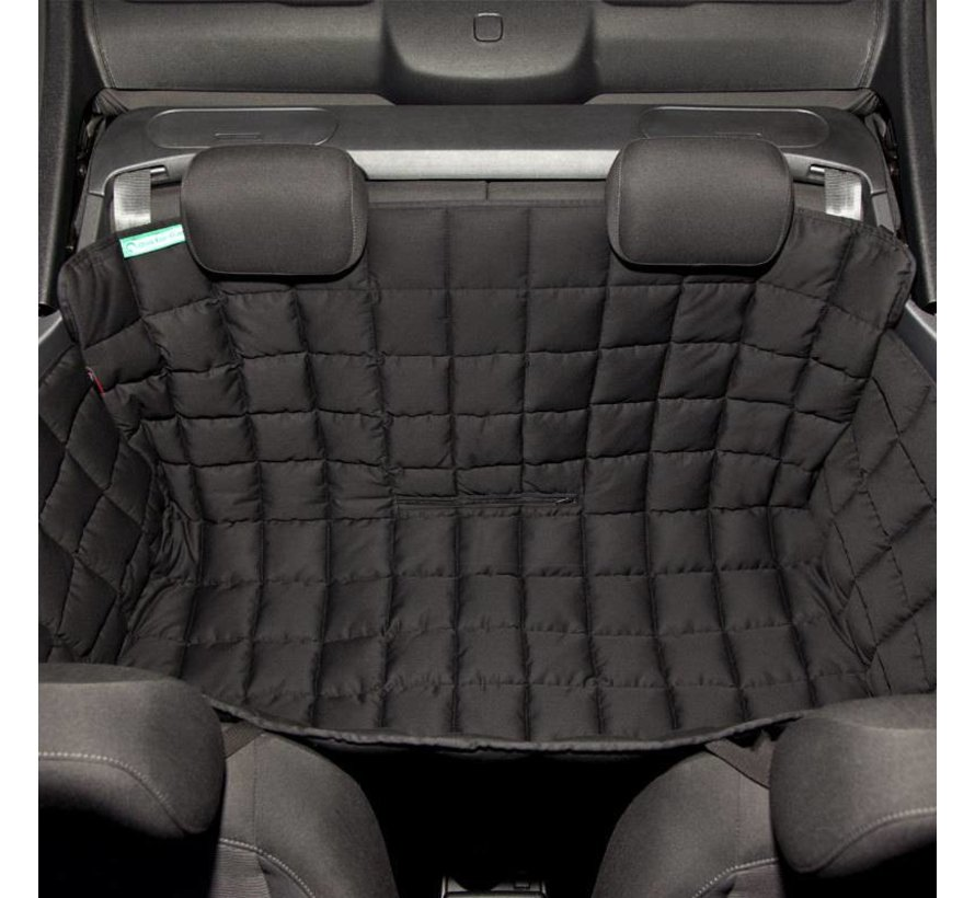 Dog blanket for the back seat for two-door car Black