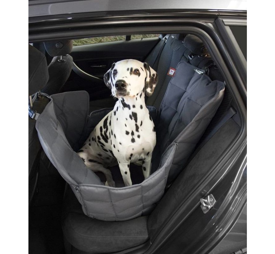 Dog blanket for the back seat - one seat Grey