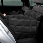 Doctor Bark Dog blanket for the back seat - one seat Black