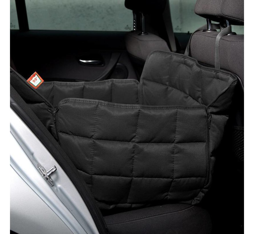 Dog blanket for the back seat - one seat Black