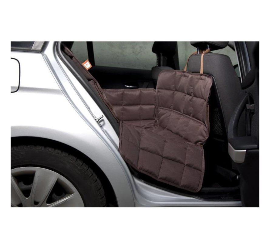 Dog blanket for the back seat - one seat Brown