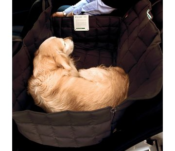 Doctor Bark Dog blanket for the back seat - two seats brown