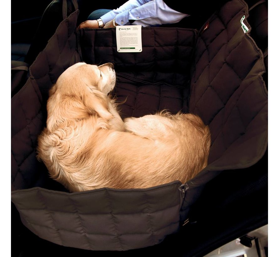 Dog blanket for the back seat - two seats brown