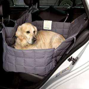 Doctor Bark Dog blanket for the back seat - two seats grey