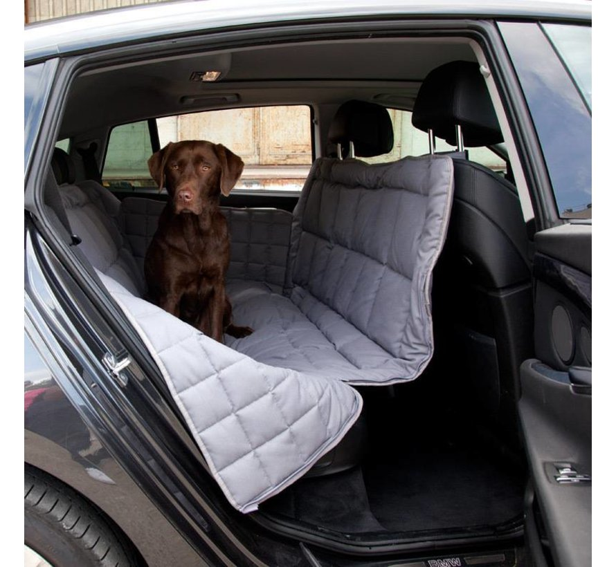 Dog blanket for the back seat - 3 seats Grey