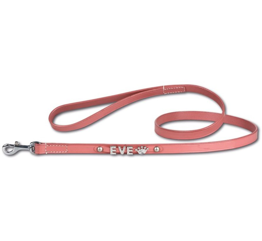 Dog leash with name medium Pink