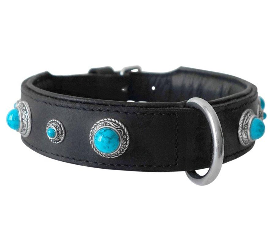 Dog Collar Antique Turquoise