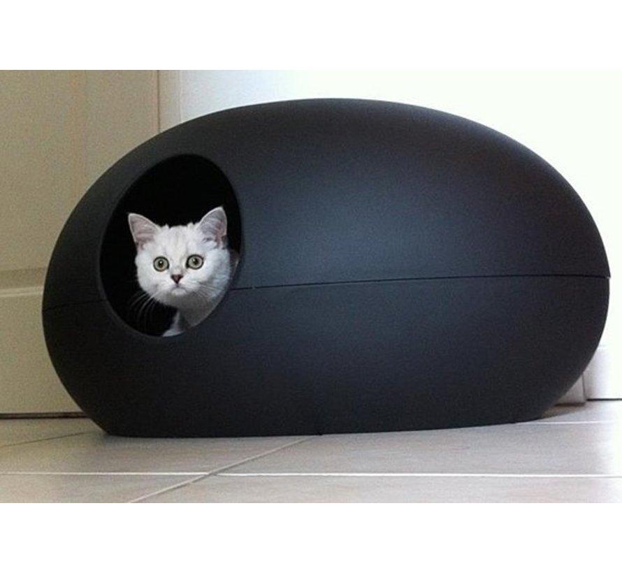 Design Kattenbak Poopoopeedo zwart