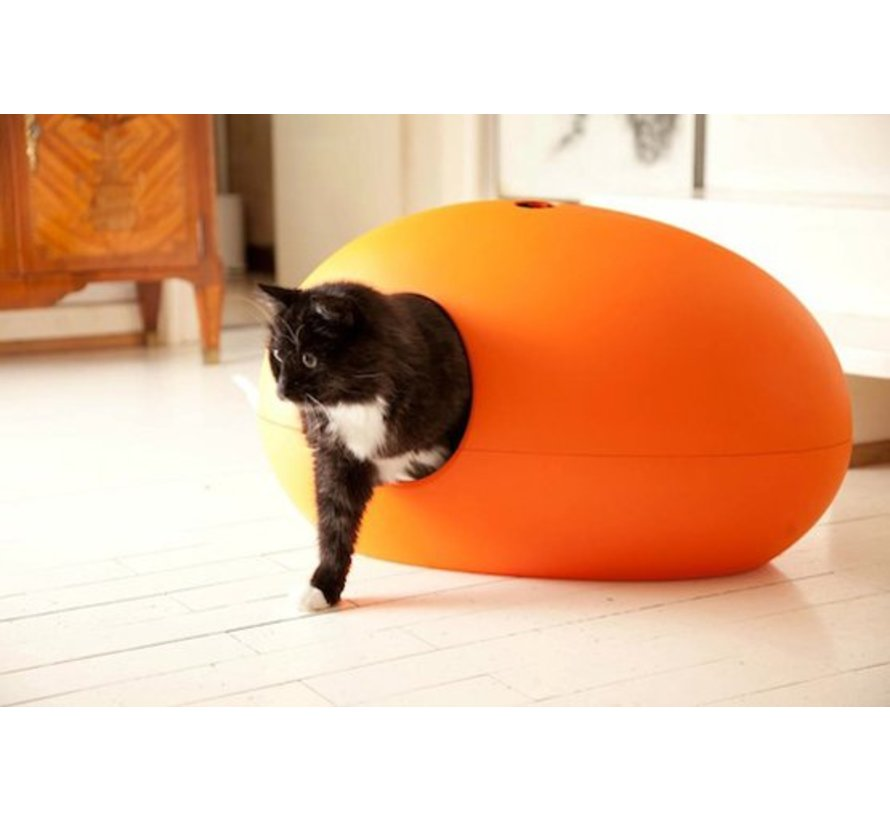 Design Litter Box Poopoopeedo orange