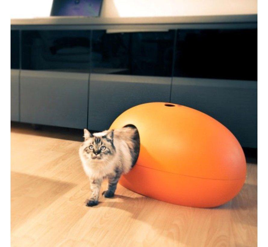 Design Kattenbak Poopoopedo oranje